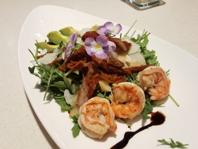 Storming Culinary On Kitchen With A 3-course Modern Mediterranean Meal - Shrimp Salad with Parmesan and Avocado