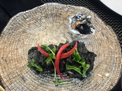 Punjab Grill Presents A Night of Music and Food for the Soul for World Gourmet Summit 2017 - Chicken Thigh Bonelesss Marinated with Charcoal Powder and Hand Pound Spices