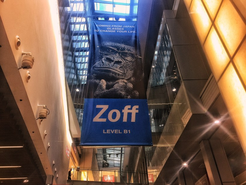 Leading Japanese Eye-wear Chain Zoff Flagship Store in Singapore At Orchard Central - Zoff Poster