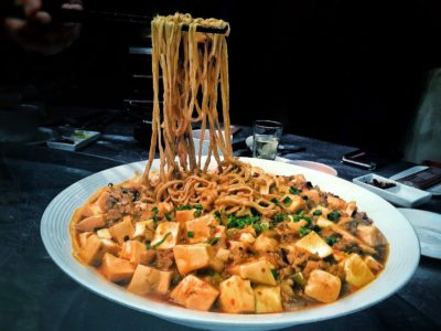 Crystal Jade Prestige At Marina Bay Financial Centre Introduces New Dishes, Downtown Singapore – Braised Spicy Ma Po Ee-fu Noodle with minced meat and beancurd (S$22++)