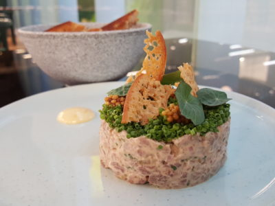 Steamroom with The Pillar and Stones (SRPS) At Orchard Central - Angus Beef Tartare ($18)