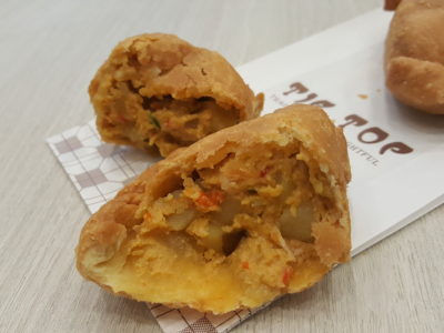 Salted Egg Snacks, Say What X Tip Top, Offerings Thick Cut Potato Chips And Chicken Puff At All Outlets - Salted Egg Chicken Curry Puff ($1.70)