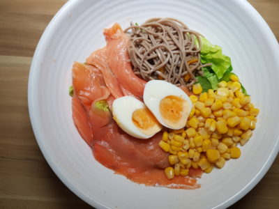 Green Croft At Galaxis Keeps Your Figure Slim But Your Wallet Fat, One North Singapore - Smoked Salmon and Soba