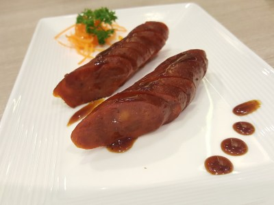 Crystal Jade Kitchen Refreshed Menu With More Cantonese Wok-Fried Dishes At Centrepoint - BBQ Red Sausage 烧红肠 ($13.80 reg)