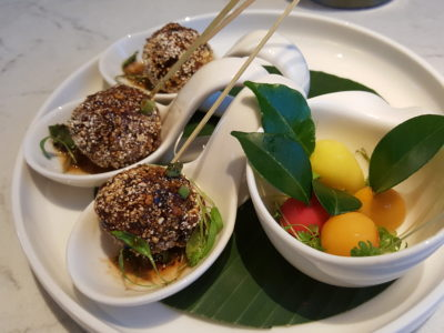 Blue Jasmine At Park Hotel Farrer Park Offering A Slice Of Thai To Little India - Lukchup and Larb Chicken Balls