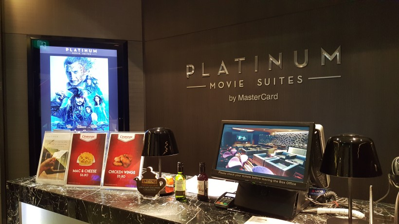 Luxurious The Cathay Platinum Suites With First Class Recliner Seats, Food, Wine and Drinks - Counter
