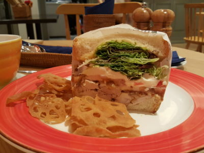 Grand Jete Cafe & Bar At Ngee Ann City Tower B Offering Comfort Japanese-Western Food - Honey Mustard Chicken Sandwich ($13.80-whole / $6.90-half)