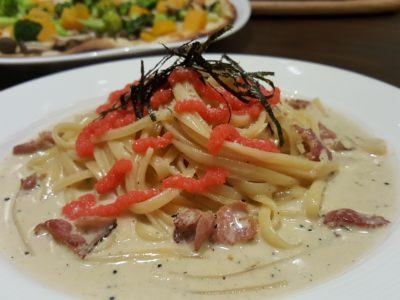 Shio & Pepe, Offering Japanese-Italian Cuisine At The Casual Dining Zone In Emporium Shokuhin - Mentaiko Cream Linguine ($15.50++)