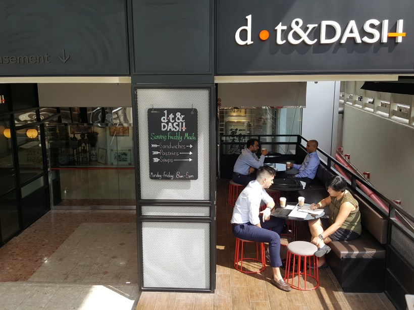 Dot & Dash Cafe At High Street Building, An Unexpected Spot - Facade with Al Fresco Seating Area