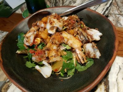Chang Sensory Trails 2017 In Singapore Featuring Bo & Dylan Held At Long Chim - Seafood Salad with Peanut Praline Dressing