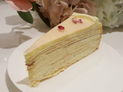 Lady M At Scotts Square, Fourth Boutique, With Exclusive Flavour Mille Crepes Cake - Rose Mille Crepes Cake ($9.50 per slice)
