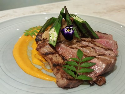 Blue Lotus @ Tanjong Pagar Centre, Delightful Dishes Well-Executed Dishes - 140g Australian Wagyu Beef Ribeye, MBS 3-5 ($48)