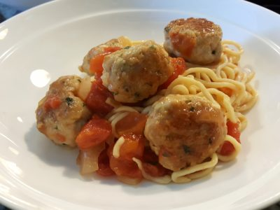 KitchenAid Mini Assists In Whipping Delicious Pasta - Meatball Pasta