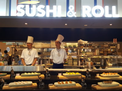 Sea & Blue Buffet Restaurant At Marina Bay Sands Offering Over 100 Dishes - Sushi & Roll Counter