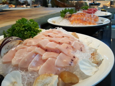 Sea & Blue Buffet Restaurant At Marina Bay Sands Offering Over 100 Dishes - Sashimi