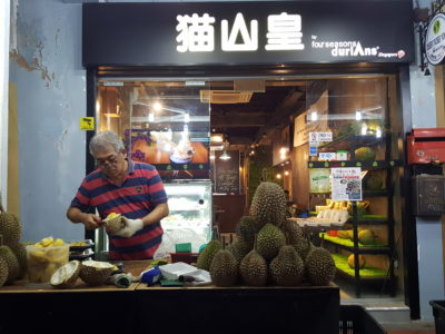 Mao Shan Wang Cafe By Four Seasons Durians At Temple Street, For The Durian Fans - Facade
