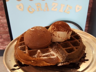 Grazie Cafe At Whampoa West, Started As Hawkerpreneur at Serangoon Gardens - Yin-Yang Waffle