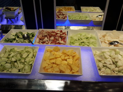 Spices Cafe Singapore Flavours Buffet Lunch At Concorde Hotel - Rojak 'Live' Station, selection of fruits