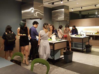 OUE Social Kitchen Offering Communal Space For Hosting Your Guests - Rice Paper, Halal Cooking Station