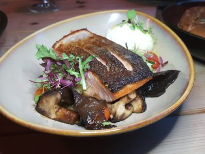 Montana Singapore New Menu For 2017 At PoMo, Getting Better And Better - Baked Salmon with Poached Egg ($18)