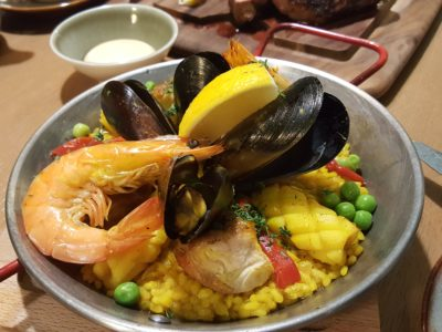 Blue Lotus Mediterranean Kitchen + Bar At Alexandra Road - Classic Rice Paella ($26)