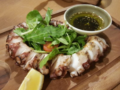 Blue Lotus Mediterranean Kitchen + Bar At Alexandra Road - Grilled Alantic Octopus Leg With Herbs ($26)