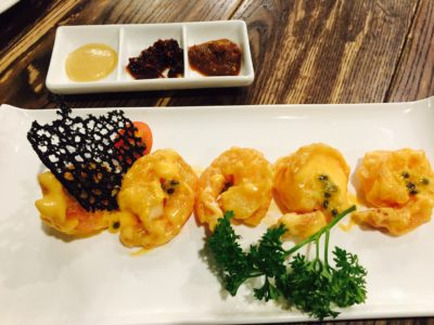 CHAR Restaurant Introduces New Hong Kong Head Chef And Revitalised Menu - Passionfruit Prawn Ball ($22) - 百香果虾球