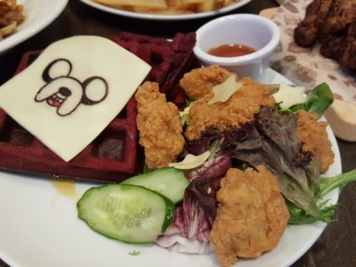 The Soup Spoon Union x Cartoon Network Cafe At Punggol Waterway Point Featuring Powerpuff Girls, Ben 10, Adventure Time and We Bare Bears - Finn & Jake's Red Chicken with Velvet Waffle ($15.90)