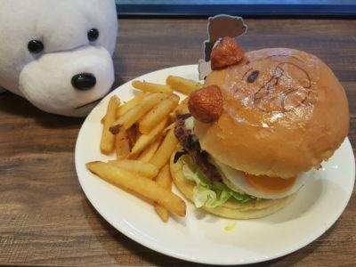 The Soup Spoon Union x Cartoon Network Cafe At Punggol Waterway Point Featuring Powerpuff Girls, Ben 10, Adventure Time and We Bare Bears - Grizzly Beef Burger ($18.80)