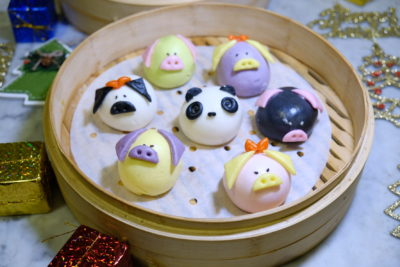 Yum Cha Christmas Special Dim Sum Treat At Treggannu Street - Little Twin Piglets ($1.90++ per pc)