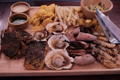 Meat Market Offering Quality Wood-Fire Grilled Meat At Heartland, Hougang 1 - Four to share, Fisherman's Pride ($45.90)