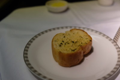 Flying Singapore Airlines Business Class SQ336 From Singapore To Paris - Garlic Bread