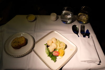 Business Class SQ336 From Singapore To Paris - Table Setting