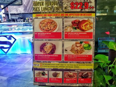 DC Comics Super Heroes Cafe Singapore Opens 2nd Outlet at Ngee Ann City - Weekday Lunch Menu