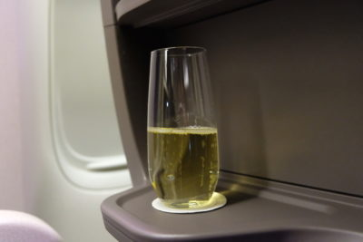 Singapore Airlines Business Class SQ333 From Paris To Singapore Flight Journey Review - Cup place holder