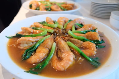 Min Jiang At One North Lunar New Year Luncheon - Stewed Noodle with King Prawns