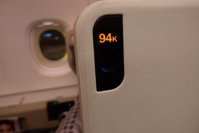 Business Class On A380 Singapore Airlines, SQ336 From Singapore To Paris - Seat 94K