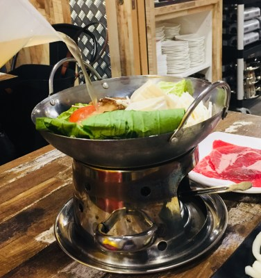 Jin Ho Mia @ Alexandra Retail Centre Offering A Revamped Menu of Rice Bowl and Hot Pot - Ribeye Single Pot with Herbal Chicken Broth ($13.80)