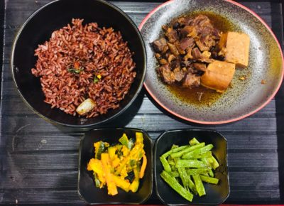 Jin Ho Mia @ Alexandra Retail Centre Offering A Revamped Menu of Rice Bowl and Hot Pot - Braised Pork Belly ($8.80)
