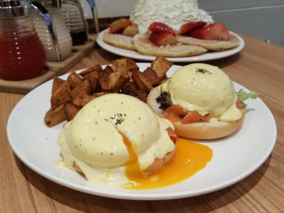 Eggs 'n Things With Eggs And Pancake For All Day Breakfast At Plaza Singapura - Runny Egg