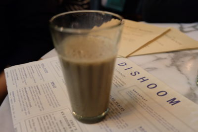 Dishoom, Old Irani Cafes Of Bombay In The Heart Of London, At King's Cross - House Chai (£2.50)