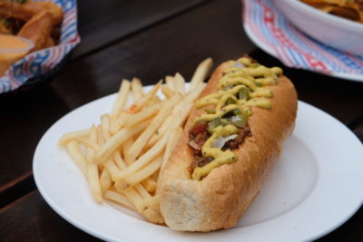Mischief @ Esplanade Offering American Street Food With Al Fresco Dinning Style - Chilli & Cheese Chicken Dog ($19)