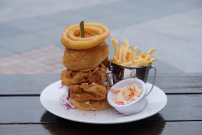 Mischief @ Esplanade Offering American Street Food With Al Fresco Dinning Style - Fried Chicken Burger ($19)
