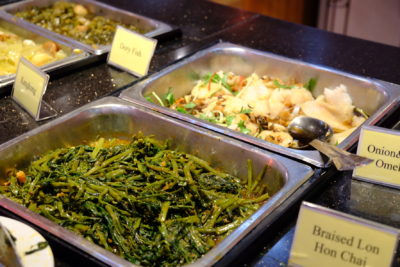 Crystal Cafe At Orchard Grand Court, Enjoy Taiwan Porridge Buffet With 30 Dishes Under $20 - Vegetables