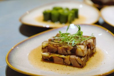 The Chinese Kitchen 厨神私房菜 At Cavan Road, Whipping Extremely Delicious Dishes - Pork Trotter Jelly, Passion Fruit Infused Cucumber ($10)