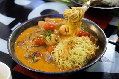 Bangkok Jam New Refreshing Menu Available At All Outlets - Egg Noodles with Duck Breast in Red Curry