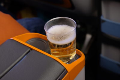 Flying Singapore Airlines Premium Economy SQ833 From Shanghai To Singapore - Cup holder