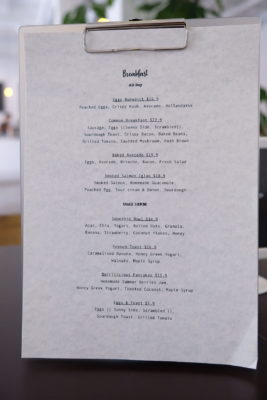 Twenty Eight Cafe At Wilkie Road, A Cafe With White Space - Breakfast Menu