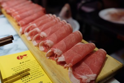 Spice World Hot Pot, A Tough Competitor For Haidilao At Clarke Quay - One Metre Mutton Slices 一米羊肉