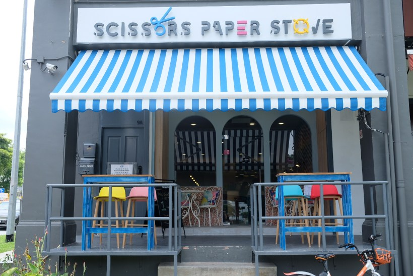 Scissors Paper Stove At Teck Chye Terrace, Communal Dinning with Local-Twist Western Dishes - Facade